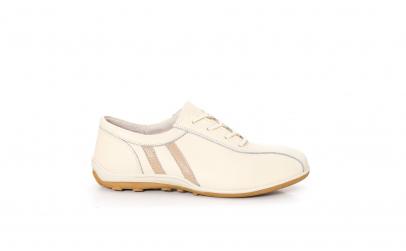 Pantofi sport piele, culoare crem