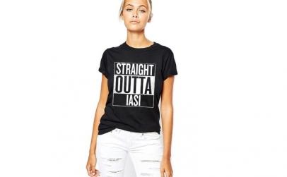 Tricou dama negru - Straight Outta Iasi