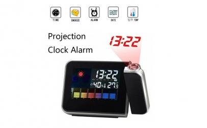Statie meteo cu ceas si proiectie ora