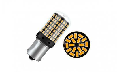 Set becuri LED BA15S, 144 SMD, 4014