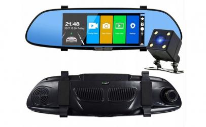 Camera auto dubla in oglinda FULL HD