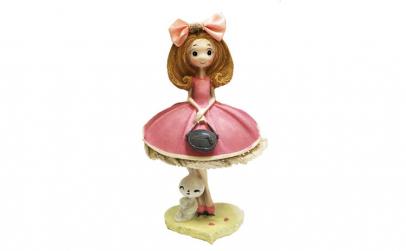 Figurina fata cu poseta si iepuras,