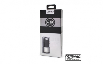 Incarcator Auto dual USB Ldnio C403