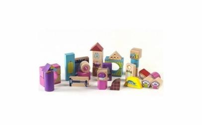 Cuburi de lemn colorate