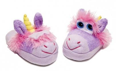 Stompeez Unicorn slippers- papuci pentru