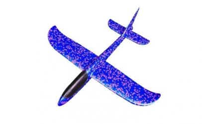 Avion planor albastru