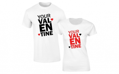 Set de tricouri albe Your Valentines