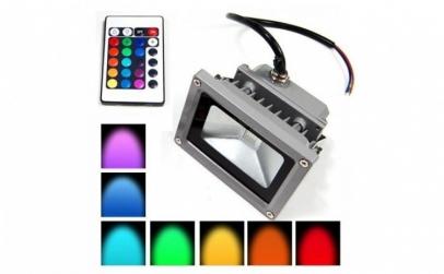 Proiector LED RGB, 10W - cu telecomanda