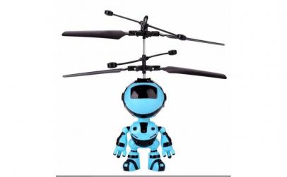 Robotel zburator cu senzor de prezenta
