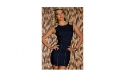 Rochie Skintight Denim Dress Dark Blue