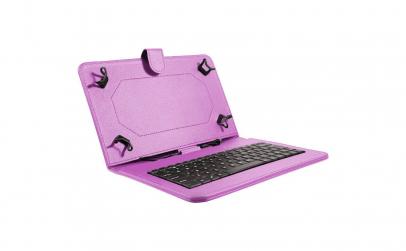 Husa tableta model X cu tastatura Mov