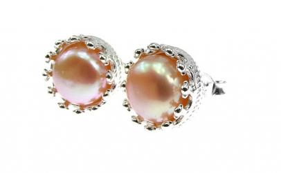 Cercei argint coroana perle de cultura