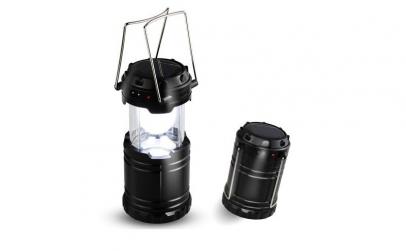 2 x felinar solar LED - pentru camping