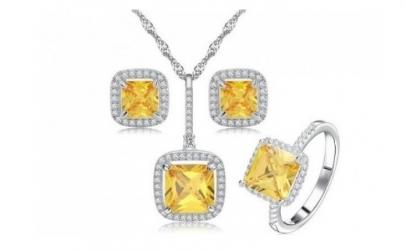 Set bijuterii Princess Diana cu platina