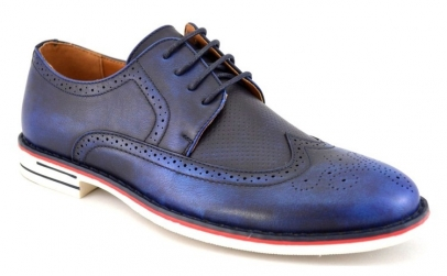 Pantofi barbatesti bleumarin eleganti