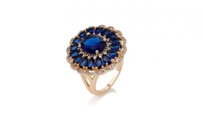 Inel Glamour Blue Sapphire