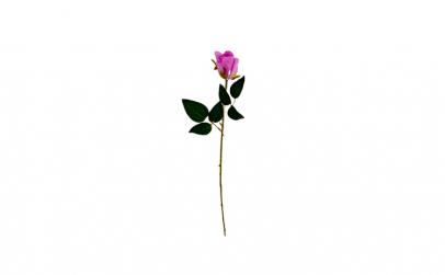 Trandafir artificial decorativ, mov, 50