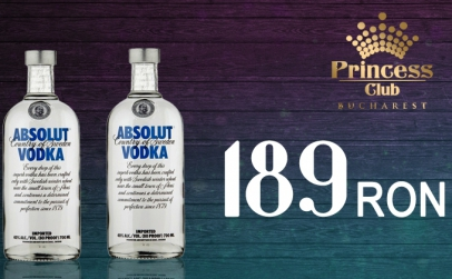 2 Sticle 0.7 Absolut Vodka Club Princess