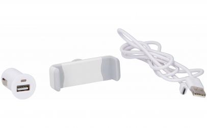 Kit auto 3 piese, incarcator USB 1A, 12/