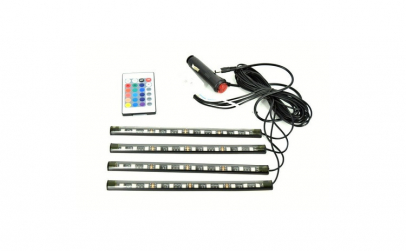 Kit interior LED 9 SMD RGB cu