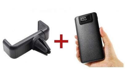 Baterie externa + suport telefon