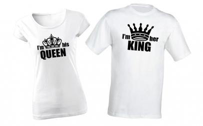 Pachet pentru cuplu I'm his Queen/I'm