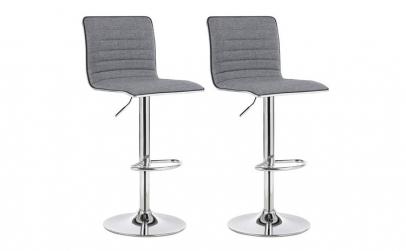 Set 2 scaune bar Piele sintetica Gri