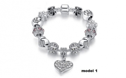 Bratara Charm Shining Heart, 5 modele