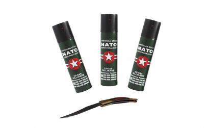 Set 3 sprayuri NATO, cadou briceag model