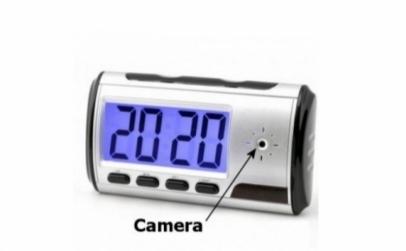 Ceas LCD de birou cu camera ascunsa