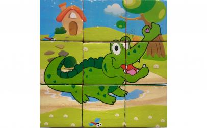 Puzzle lemn 9 piese