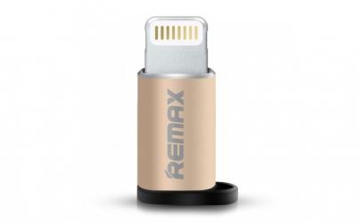 Adaptor Remax, Lightning, Auriu