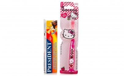 Periuta dinti Hello Kitty + pasta Cola