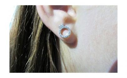 Cercei argint inel
