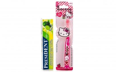 Periuta de dinti Hello Kitty+ pasta Lime