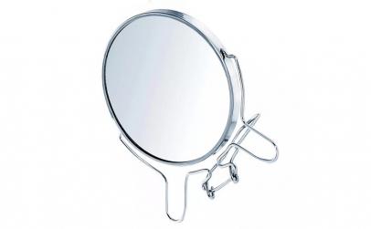 Oglinda cu lupa din sticla si metal,