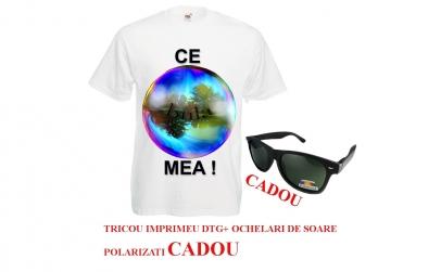 Tricou cu imprimeu + ochelari cadou