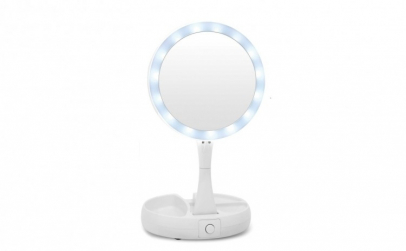 Oglinda pliabila cu iluminat LED - cerc