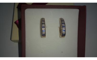 Cercei Luxury Blue Sapphire, 18K