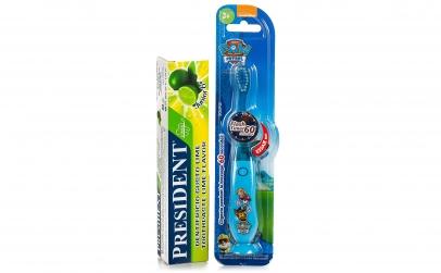 Periuta de dinti Paw Patrol + pasta Lime