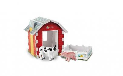 Animale ferma cu hambar   Set figurine