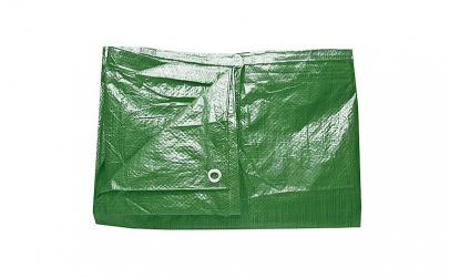 Prelata impermeabila verde cu inele