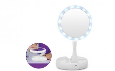 Oglinda cu LED + Cadou lampa birou