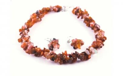 Set bijuterii cu coral natural
