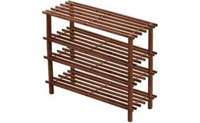 Suport incaltaminte din lemn - 4 rafturi