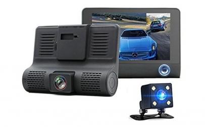 Camera auto DVR cu 3 camere