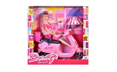 Papusa Barbie cu scuter Vespa Betty
