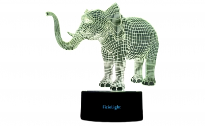 Lampa 3D LED, Elefant