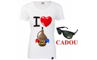 Tricou dama TUICA+ochelari CADOU