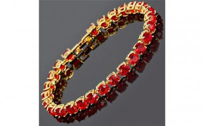 Bratara Luxury Red Crystal